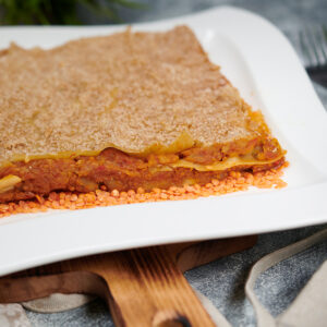 lasaña-soja-vegetales-lenteja-roja-bechamel